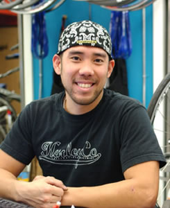 Gordon Yang - expert bike mechanic